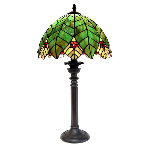 tiffany style style tree shape table lamp free shipping today. Black Bedroom Furniture Sets. Home Design Ideas