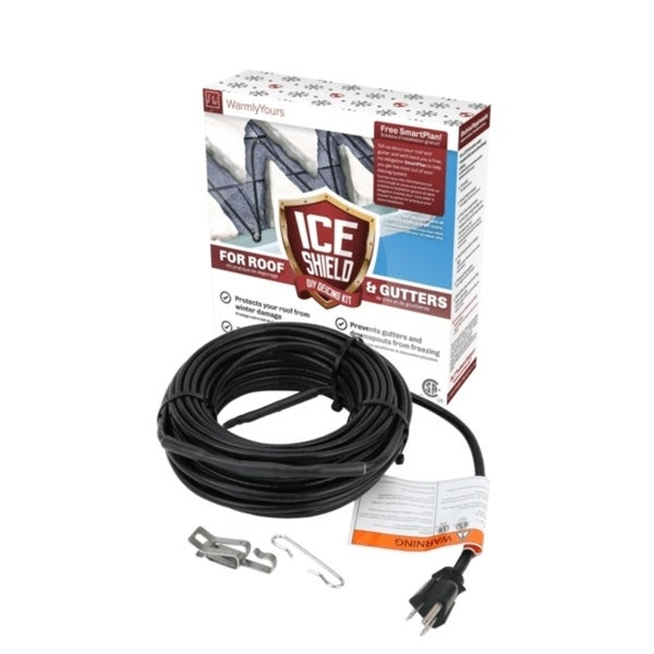 WarmlyYours Roof & Gutter De-icing 80-ft. Cable Kit (5-W per ft.) - Black