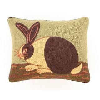 "Warren Kimble Cozy Bunny Hook Pillow 14X18"""