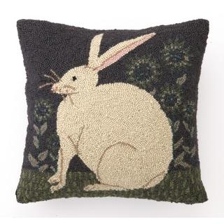 "Warren Kimble Hare With Sunflowers Hook Pillow 16X16"""