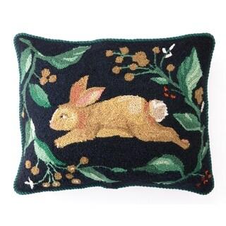 """Sally Eckman Roberts Bunny Run Hook Pillow 16X20"""""""