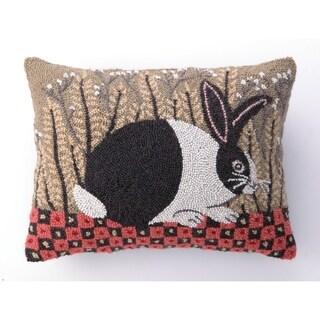 "Warren Kimble Checkerboard Bunny Hook Pillow 14X18"""