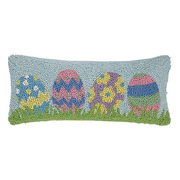 """Easter Egg Oblong Hook Pillow 8X20"""""""