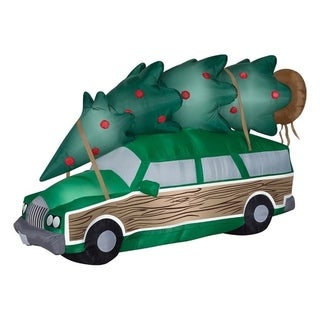Gemmy Industries National Lampoon Christmas Vacation Station Wagon Christmas Inflatable Fabric 72 in. L