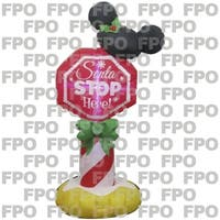Gemmy Industries  Mickey Ears Stop Sign  Christmas Inflatable  Fabric  42 in. H