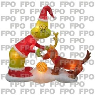 gemmy industries grinch and max scene christmas inflatable fabric 24 716 in