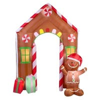 Gemmy Industries  Archway Gingerbread House  Christmas Inflatable  Fabric  108 in. H