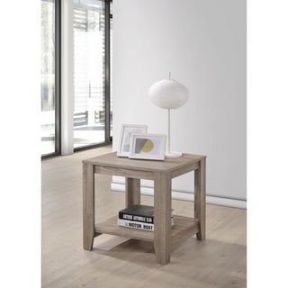 The Gray Barn Glendeer Taupe Distressed Finish End Table
