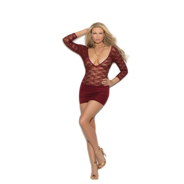 9b13ce5280d96 Shop Elegant Moments women's lace and lycra mini dress - Free Shipping On  Orders Over $45 - Overstock - 20271337