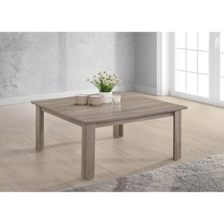 The Gray Barn Glendeer Taupe Distressed Square Cocktail Table