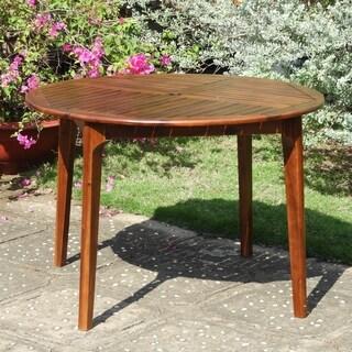 International Caravan Highland Acacia 44-inch Outdoor Dining Table