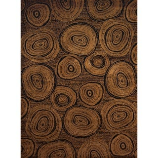 Harmony Tree Trunk Brown Rustic Area Rug (5'3 x 7'2) (As Is Item)