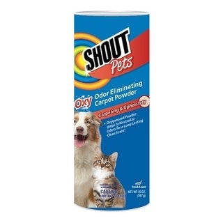 2-Pack Shout for Pets Stains Turbo Oxy Carpet Odor Eliminator Powder