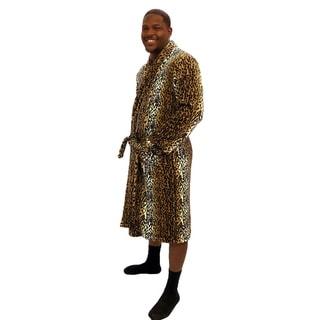 Home Soft Things Men & Women Bathrobe Printed Flannel Fleece Cloth