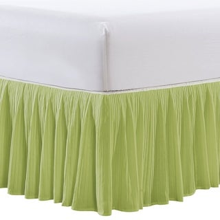 "Serenta Microfiber Pleated Bedskirt 18"" Drop in Length"