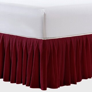 Serenta 18 Inch Solid Color Pleated Bed Skirt European Style