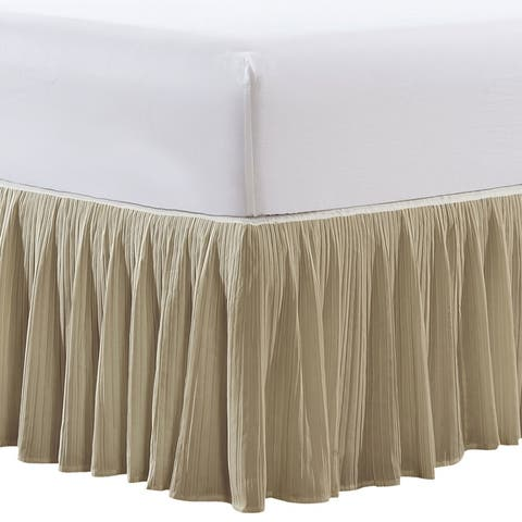 "Serenta Pleated Bedskirt 18"" Drop - 32 Color Options"
