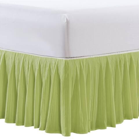 "Serenta Pleated Bedskirt 18"" Drop - 32 Color Options"