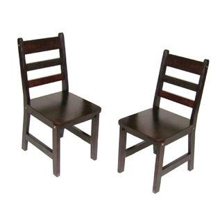 Lipper International Child's Set of 2 Chair-Espresso