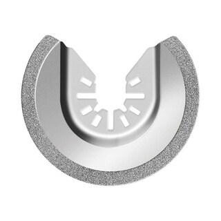 Rockwell Sonic Crafter Steel Diamond Grout Blade 2-1/2 in. Semi-Circle