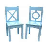 Lipper International Child's Chair Set of 2-Light Blue