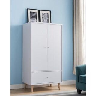 Carson Carrington Gjovik Modern White 2-door Wardrobe Armoire