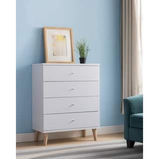 Taylor & Olive Millwood Contemporary White 4-drawer Chest
