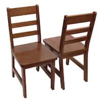 Lipper International Child's Set of 2 Chair- Walnut