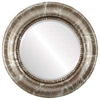 Heritage Framed Round Mirror in Champagne Silver - Antique Silver
