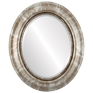 Heritage Framed Oval Mirror in Champagne Silver - Antique Silver