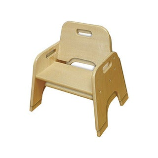 """ECR4Kids 6"""" Stackable Wooden Toddler Chair - RTA, 2 Pack"""