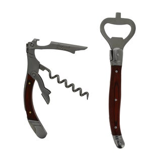 French Home Laguiole 2 Piece Bar Opener Set with Pakkawood Handles