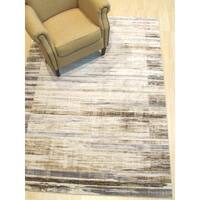 Ivory Distressed Bohemian Isabella Striped Rug - 8' 6 x 11'10