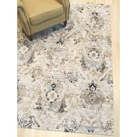 Ivory Distressed Bohemian Isabella Rug - 8' 6 x 11'10
