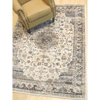 Ivory Distressed Bohemian Isabella Medallion Rug - 7'10 x 9'10