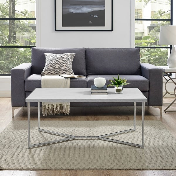 Silver Orchid Ipsen 42-inch Modern Rectangular Coffee Table - 42 x 22 x 18H