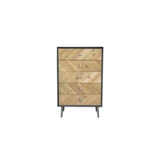 Teton Home AF-148 Matte Grey Wooden/Metal Cabinet