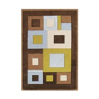 Alliyah Handmade Chocolate Brown New Zealand Blend Wool Rug - 5' x 8'