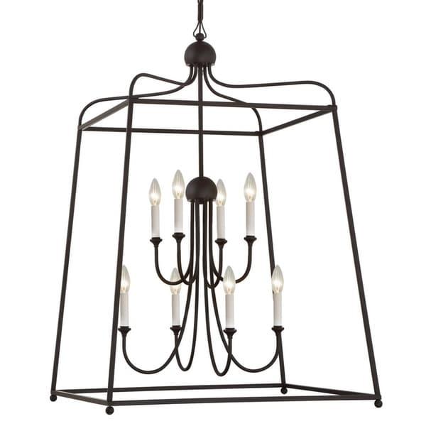 Modern 8-light Dark Bronze Chandelier