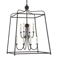 Modern 8-light Dark Bronze Chandelier