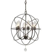 Transitional 6-light English Bronze Chandelier