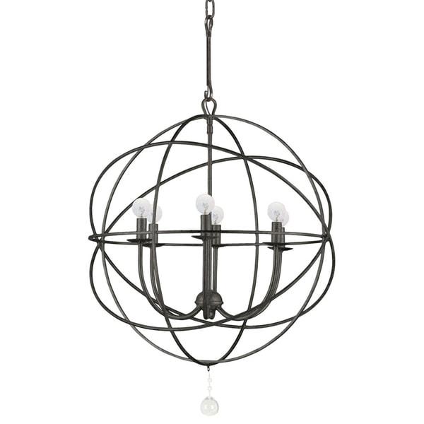 Industrial 6-light English Bronze Chandelier