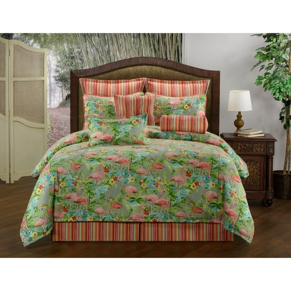 Pink Flamingo Comforter Set 9 Or 10 Pc Free Shipping Today 20272734