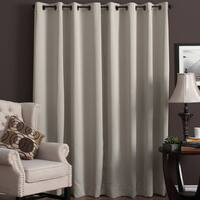 "Ultimate Blackout Grommet Top Patio Curtain Panel 84"" in Ivory (As Is Item)"