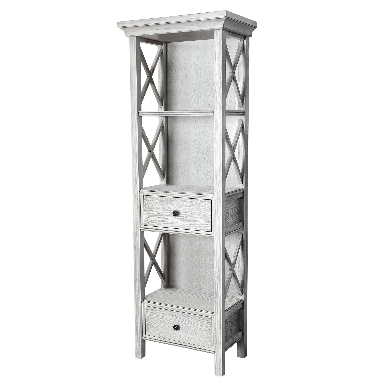 Furniture Of America Biel Rustic White Solid Wood Storage Bookshelf Overstock 20272745