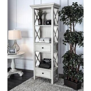 Furniture of America Biel Rustic Antique White