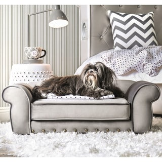 Furniture of America Mola Traditional Rolled Arms Tufted Pet Bed