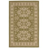 Medallion Outdoor Rug - 7'10 x 7'10