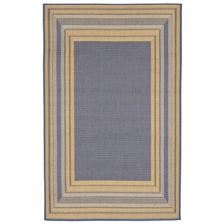 Line Border Outdoor Rug (7'10 x 7'10) - 7'10 x 7'10