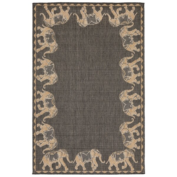 Elephant Parade Outdoor Rug - 7'10 x 7'10